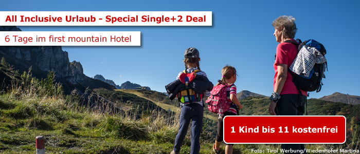 Single mit Kind Deal first mountain Hotel